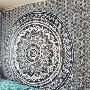 Wall Art - Black and Gray Tapestry